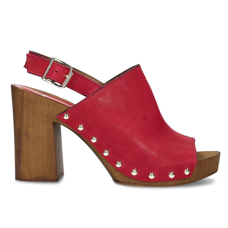 3379afc55f Bata Červené dreváky na podpätku - Všetky topánky