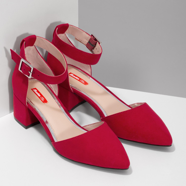 15e4e00b35 Bata Red Label Červené dámské lodičky na nízkom podpätku - Lodičky ...