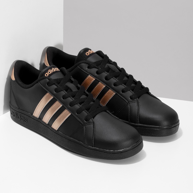 a6d5fd4fe2fd0 ... Čierno-zlaté detské tenisky adidas, čierna, 401-6164 - 26 ...